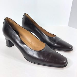 Strafford Flex Brown Leather Heels Career Pumps 39